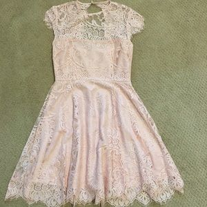 pink lace cocktail/homecoming dress